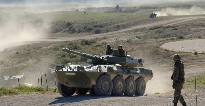 El Ejército español y la Otan tienen en San Gregorio el mayor campo de maniobras del país.