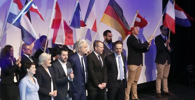 Los líderes de la ultraderecha europea se han reunido en Coblenza (Alemania) envalentonados ante la llegada de Trump / EFE