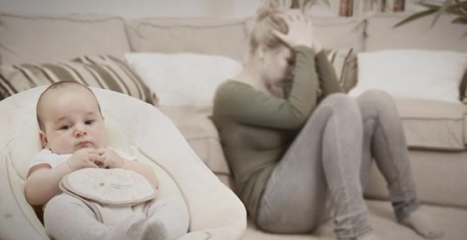 Entre el 10% y el 20% de las madres se ven afectadas por una depresión posparto. / Fotolia - AGENCIA SINC