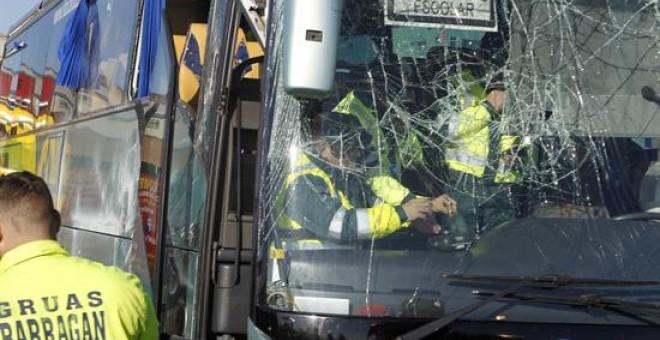 Resultado de imagen de Detenido el conductor del autobús volcado en Fuenlabrada,