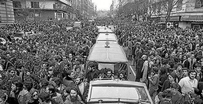 Multitudinaria manifestación tras la matanza de Atocha RADICALES LIBRES