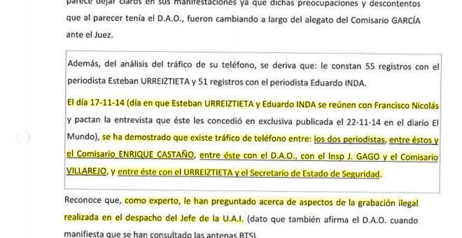Análisis pericial de las llamadas entre altos mandos policiales y periodistas con relación al caso Nicolás.