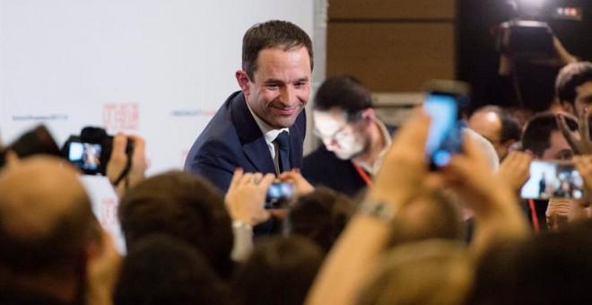 El ganador de las primarias del PS francés y candidato a las presidenciales francesas, Benoît Hamon. - EFE