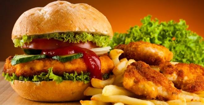 Exemple de menjar ràpid i no precisament sa.