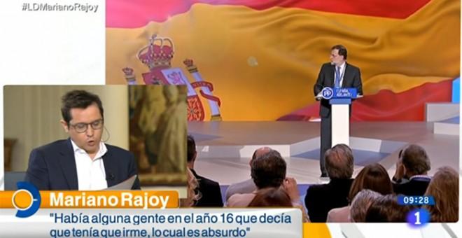 Sergio Martín entrevista a Mariano Rajoy para TVE