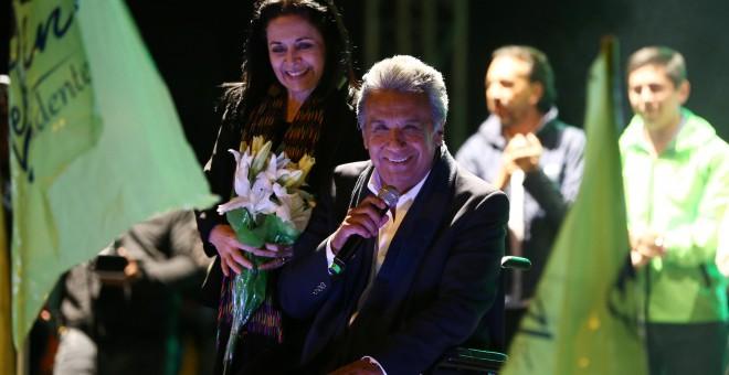 El candidato de Alianza País, Lenín Moreno. - REUTERS
