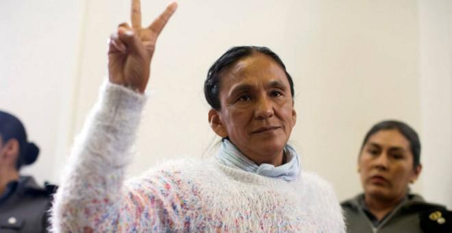 La activista argentina y diputada del Parlamento del Mercosur Milagro Sala en una imagen de archivo. Foto: Reuters.