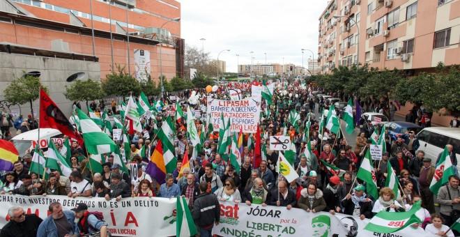 Marcha de la Dignidad en Sevilla con motivo del 28-F. E.P.