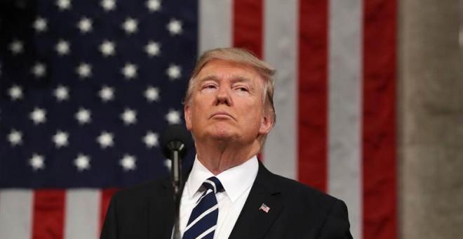 Donald Trump durante su discurso. | EFE