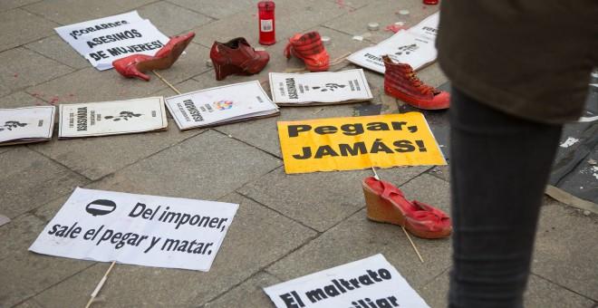 Fotografía de la protesta de las 'mujeres de Sol' en Madrid. CHRISTIAN GONZÁLEZ