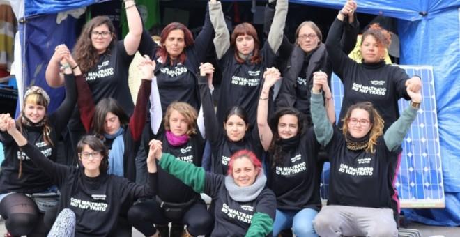 Mujeres en huelga de hambre de Sol./ PÚBLICO