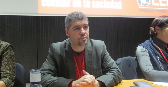 Unai Sordo en un Congreso Sindical de C.C.O.O Euskadi./ EUROPA PRESS