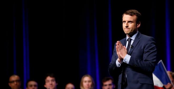 Macron, hace unos días en un acto electoral en Angers. REUTERS/Stephane Mahe
