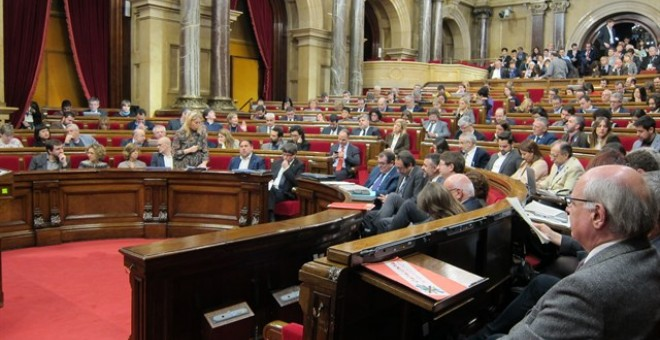 Imatge d'un ple del Parlament. EUROPA PRESS