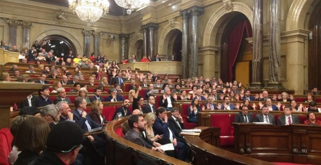 La sessió al Parlament. EUROPA PRESS