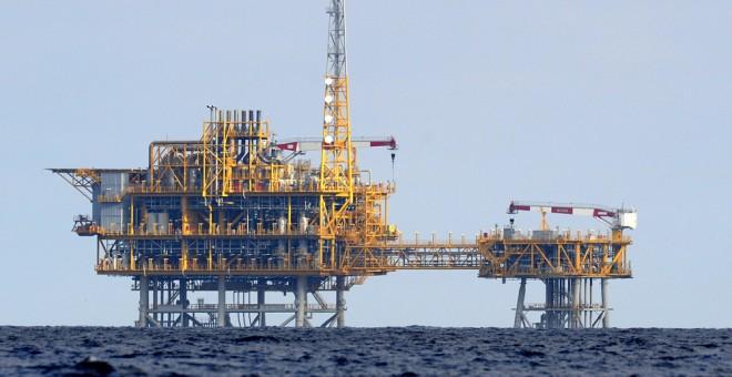 La plataforma del almacén de gas Castor, frente al Delta del Ebro. AFP/Lluis Gene