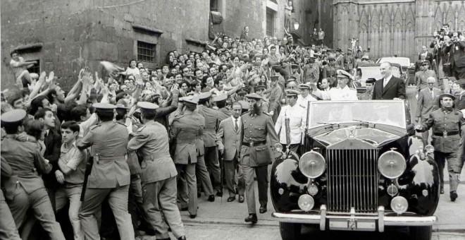 Visitas de Franco a Barcelona. EFE