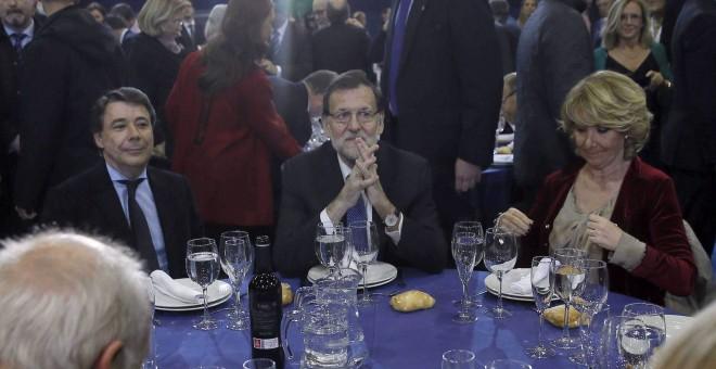 Ignacio González, Mariano Rajoy y Esperanza Aguirre. EFE