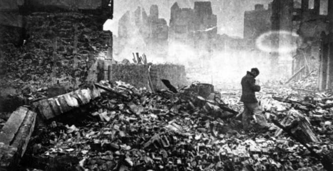 Bombardeo de Gernika. Foto: Museo de la Paz de Gernika