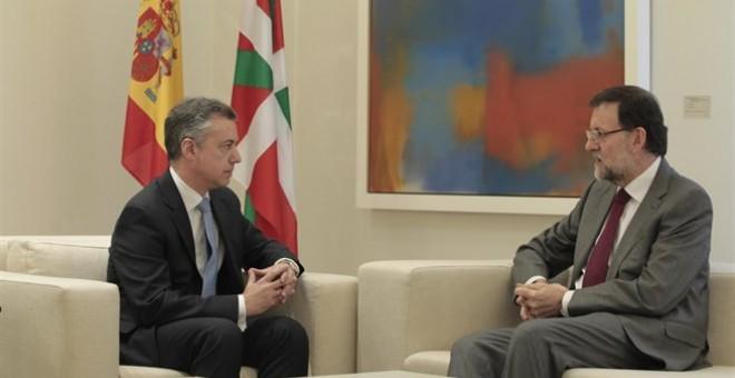 Mariano Rajoy e Iñigo Urkullu durante una reunión en La Moncloa.