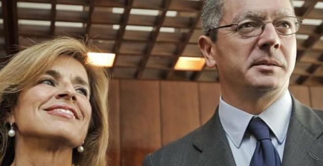 Ana Botella y Alberto Ruiz-Gallardón, los dos últimos alcaldes de Madrid del Partido Popular.