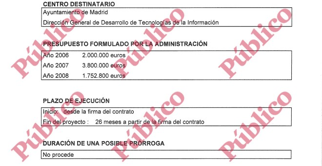 Detalle de las condiciones originales del Pliego de prescripciones técnicas para la contratación de servicios del programa +TIL convocada por el Ayuntamiento de Madrid.
