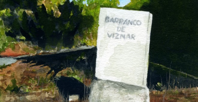 Barranco de Víznar.- Ilustración de CANDELARIO G. FLORES