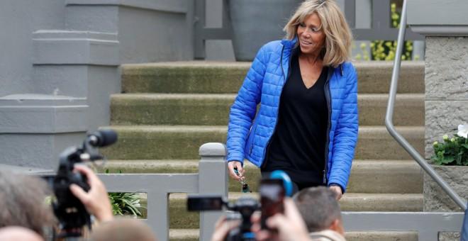 La esposa de Macron, Brigitte Trogneux.- REUTERS