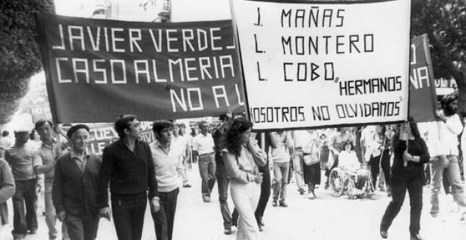 Hoy hace 36 años jóvenes, Juan Mañas Morales, Luis Montero García y Luis Cobo Mier fueron asesinados salvajemente por la Guardia Civil
