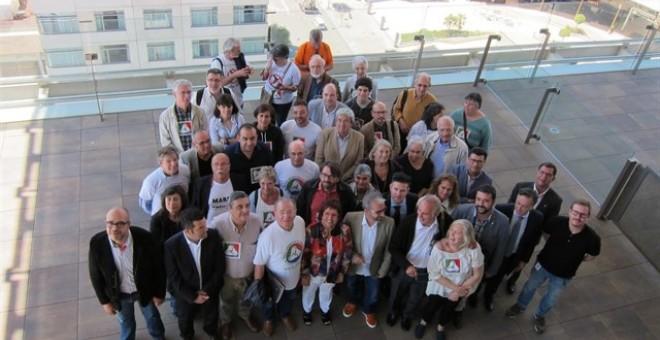 Alguns dels impulsors de la RGC després de la signatura de l'acord. EUROPA PRESS