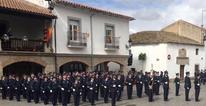 Celebración franquista en Dos Torres, Córdoba