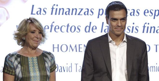 Pedro Sánchez y Esperanza Aguirre en una imagen de archivo / EFE
