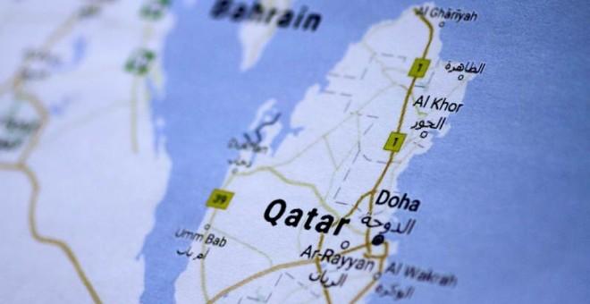 Una imagen de un mapa de Catar. | REUTERS
