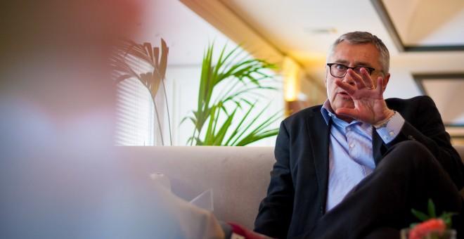 Michael Robinson, durante la entrevista en el Hotel Meliá Castilla. REPORTAJE FOTOGRÁFICO: CHRISTIAN GONZÁLEZ