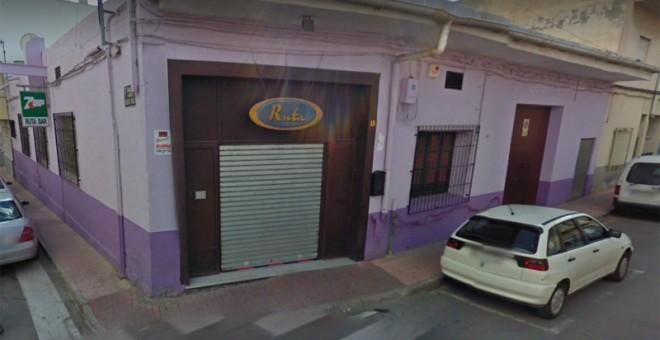 Bar 'Ruta' en Alhama de Murcia. Google Maps