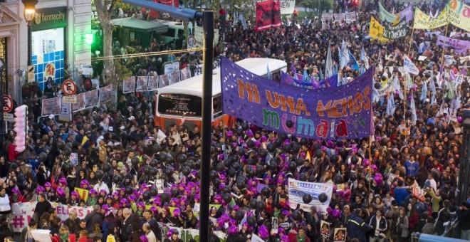 Manifestación de Ni Una Menos contra los femicidios el 3 de junio en Buenos Aires EITAN ABRAMOVICH / AFP
