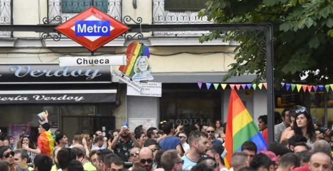 Fiestas del 'Orgullo Gay' en al barrio madrileño de Chueca.EFE/Archivo