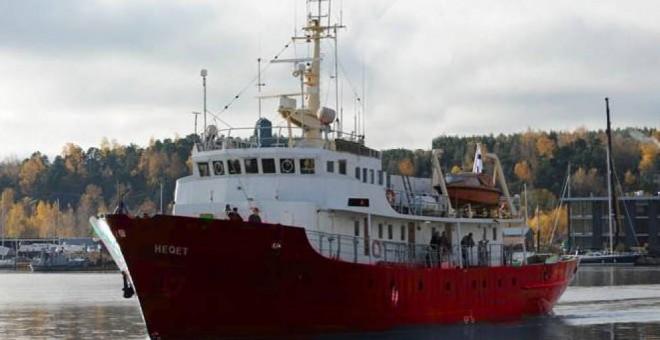 Imagen del barco C-Star, del movimiento xenófobo Defend Europe.-