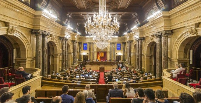 Plano general del Parlament de Catalunya. EUROPA PRESS