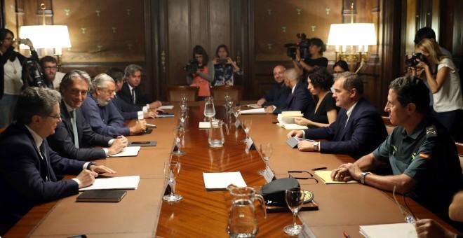 Reunión del Comité de Crisis celebrada esta mañana / EFE