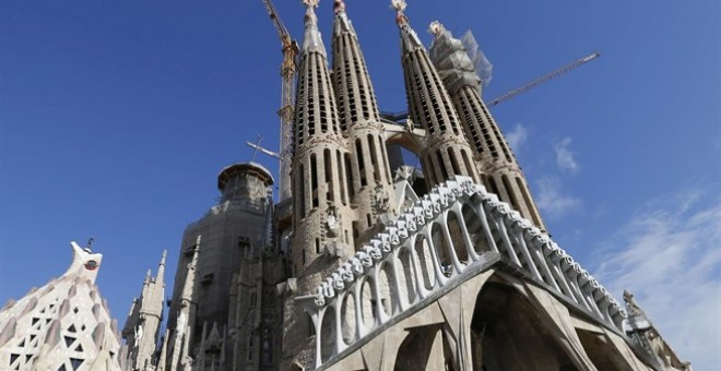La Sagrada Familia, obra de Antonio Gaudí. Europa Press