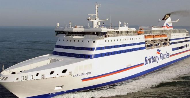 Ferry en el que los inmigrantes pretendían subir como polizones para llegar al Reino Unido /Brittany Ferries