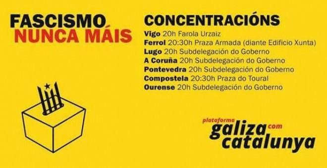 Cartel convocatorias Galicia
