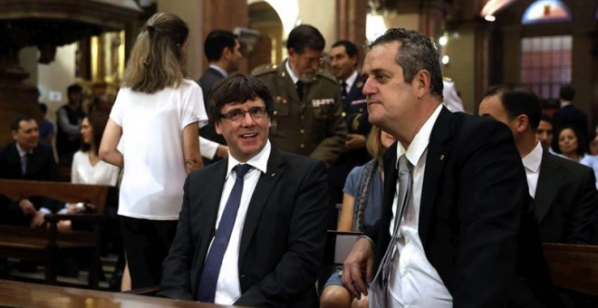 Puigdemont y Forn, hace unos días. EFE/Toni Albir