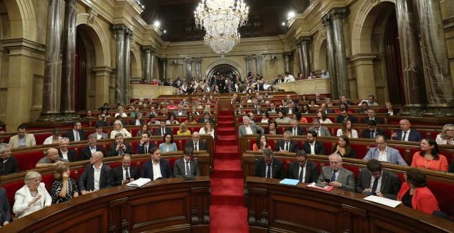 Imagen del Pleno del Parlament de Catalunya del pasado 6 de septembre, cuando aprobó la ley del referéndum. REUTERS