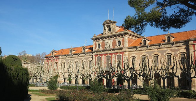 Exterior del Parlament catalán en el parque de la Ciutadella.