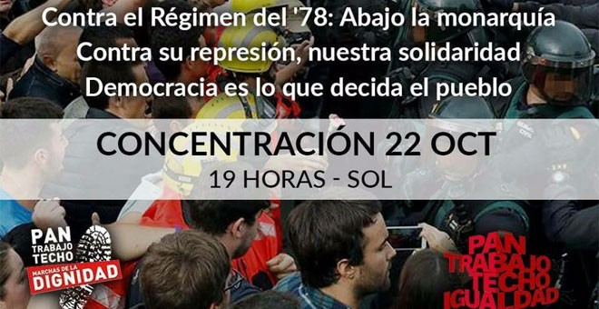 'Las Marchas de la Dignidad junto al pueblo catalán'