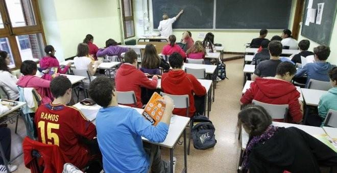 Imagen de archivo de una clase de colegio