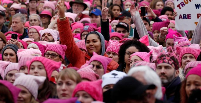 Una imagen de la Wome's March de Washington en enero de 2016 / Reuters