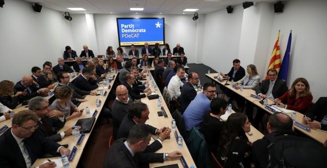 Imagen de la reunión del comite nacional de PDeCat en Barcelona. REUTERS/Albert Gea